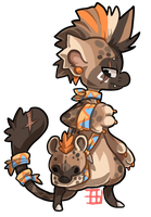 #62 Bagbean - Spotted hyena by griffsnuff