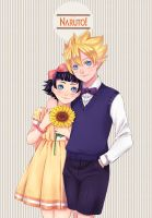 Commission: Himawari and Boruto by kakikuri1