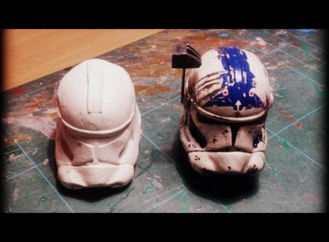 Fives Helmet ( color ) and Captain Rex ( white ) by The-Black-Scorpion