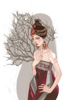 Girl in the Tree - Final by MademoiselleAnna