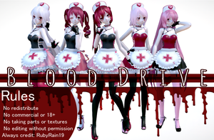 [MMD] Blood Drive series by RubyRain19 by RubyRain19