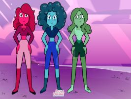 Gem sisters by Lydiathecrystalgem