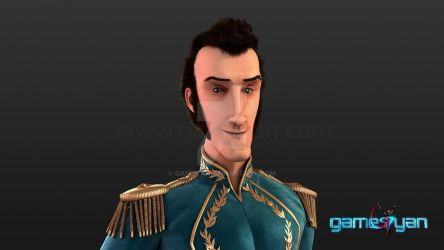3D Prince Semi Realistic Low Poly Movie Character by gameyan