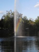 Rainbow in a fountain by KonekoKaburagi