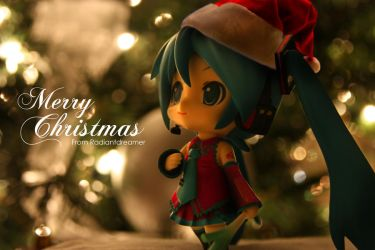 Christmas Miku by vihena