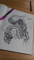 Dragon pen art 01 by ZombieHun