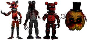 Foxy.exe And Victims by shadowNightmare13