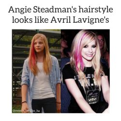 Angie Steadman and Avril Lavigne-MEME by HeroXD