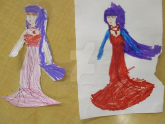 Princess Mars Outline Coloring by Kids by Flood7585