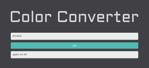 ColorConverter: Easily Convert Color Codes by michaelsboost