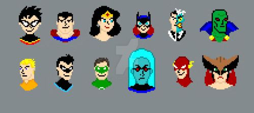 Misc. DC Superhero (and villain) Pixel Art by DanRussell93