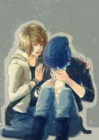 Life is Strange - Max and Chloe hug by Maarika