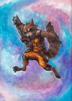 Rocket Raccoon by tin-tower