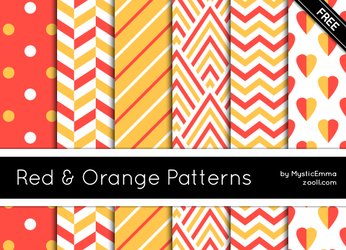 Red And Orange Patterns by MysticEmma
