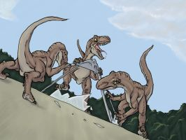 Raptors on the Roof by jurassicpark