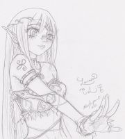 D.D. Chara sketch- Lacrimosa by YuriRave