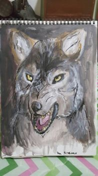 Acrylic Timber Wolf by VenZZaPen