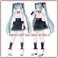 Watcher's gift Sour Classic Idol Miku + DL by HatsuneDKaname
