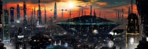 Futuristic City 2 by rich35211