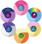 MLP Mane 6 Google Chrome Icons by EMedina13