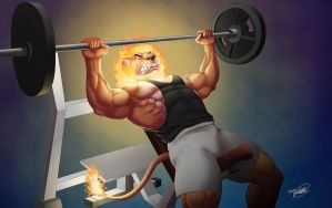 Burning those muscles by SymbolHero