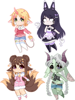 [OPEN] Kemonomimi Adoptables by Caiinu