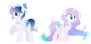 Alicorn Flare and Prism by CookieFoxButt