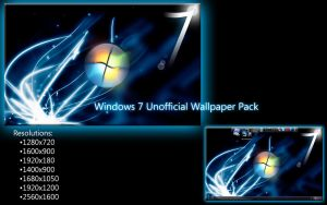 Windows 7 Unofficial Wallpaper by LordReserei