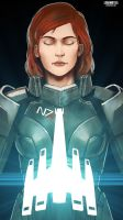 Commander Shepard (female) - Mass Effect by LoginovLS