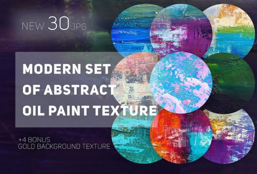 Set of abstract oil paint textures by GraphicAssets