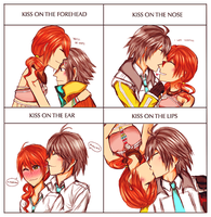 hope/vanille kiss meme by HeartlessKairi