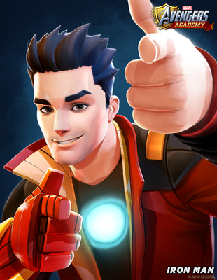 Avengers Academy--Iron Man Portrait by DNA-1