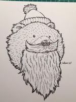 Novembear 08: The Bearded Bear by nickv47
