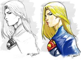 Supergirl markers by Mark-Clark-II