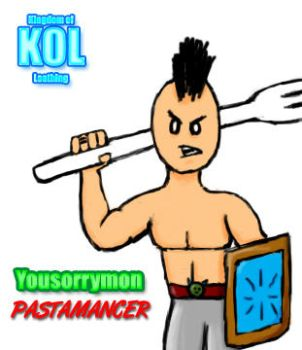 Yousorrymon the Pastamancer by yousorrymon