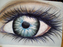 Realistic Eye by GirlofSmokeandFire