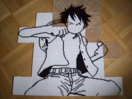 Monkey D. Luffy Bead Sprite 1. by TameFlame