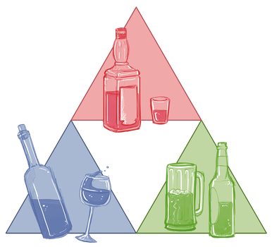The Triforce of Alcohol by CauseImDanJones