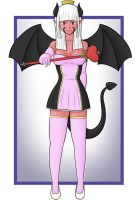 Commission: Modern Succubus Princess by MrGrimShadow