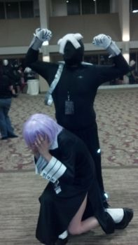 Ragnarok looming over Crona by Rosie4ever