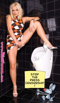 Sandra Shine Toilet Attack by blowtoons