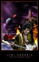 Jimi Hendrix by SpazedOut