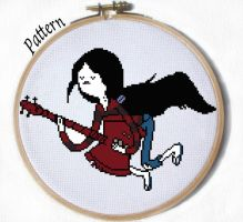 Floating Marceline cross stitch pattern by JuliefooDesigns