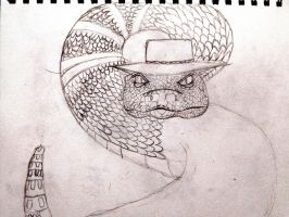 Rattlesnake Jake (Who says I can't draw) by Bloodhound98