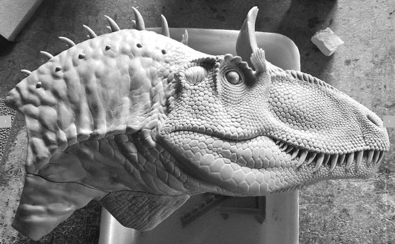 Cryolophosaurus ellioti HQ resin model kit by PaleoPastori