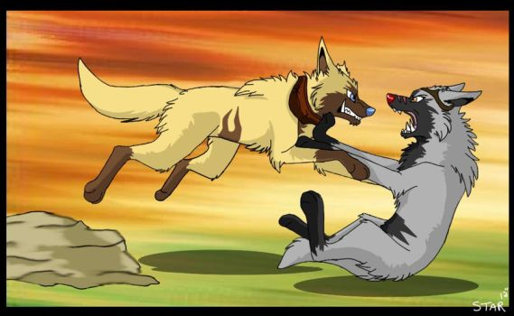 Brother, I'll show you why im alpha! by Tenebraewolf