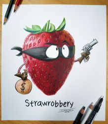 StrawrobberyDrawing by AtomiccircuS