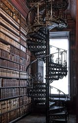 Trinity Library Stairs by simfonic