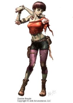 Tales of Arcana - Female Zombie by MiguelRegodon