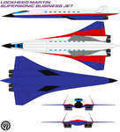 Lockheed Martin supersonic business jet by bagera3005